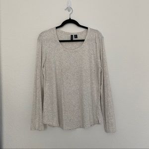 Cynthia Rowley Light Gray Long Sleeve Tee T-Shirt Size XL